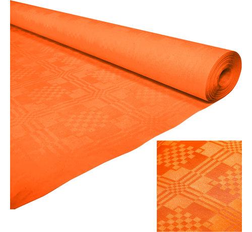 Papieren tafelkleed oranje op rol