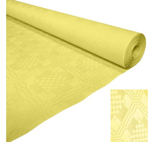 Papieren tafelkleed geel op rol