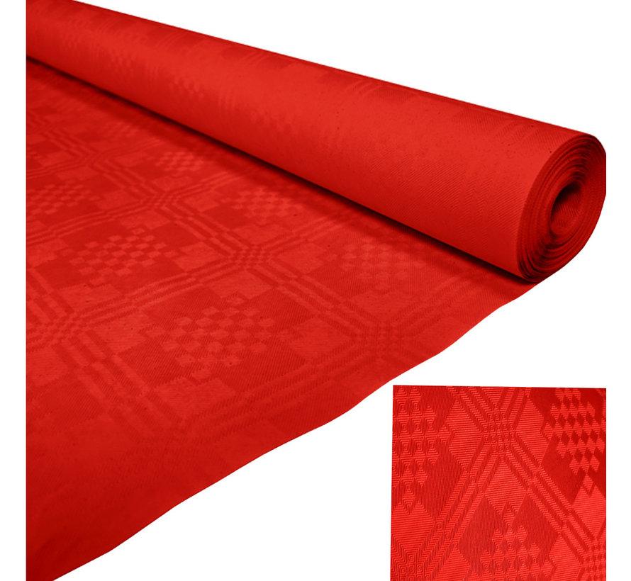 Papieren tafelkleed rood op rol