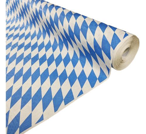 blauw wit geruit tafelkleed papier