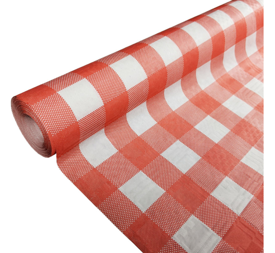 Rood wit geruit papieren tafelkleed