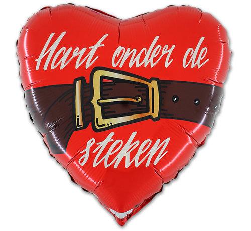 Rood hart onder de riem ballon
