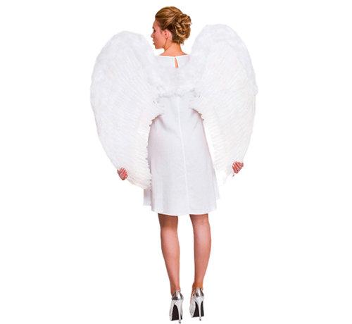 Grote witte engel vleugels