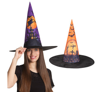 Heksenhoed Halloween print
