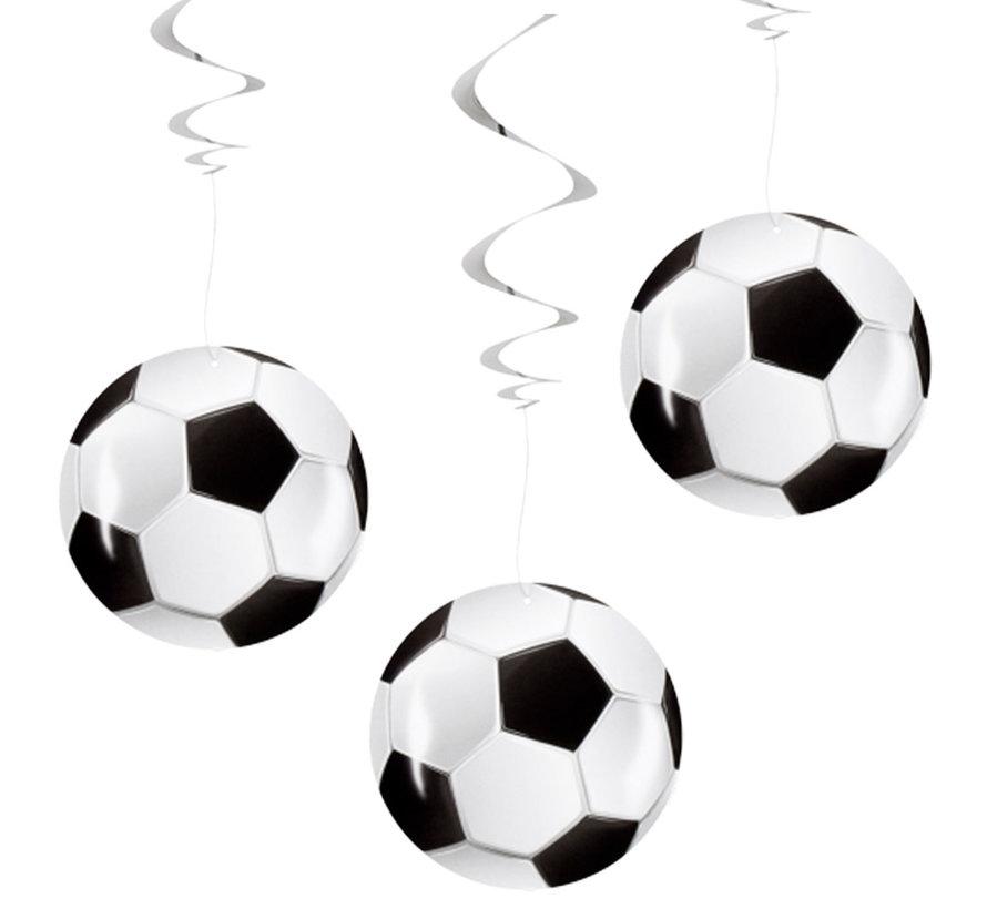 Papieren voetbal Decoratie Swirls