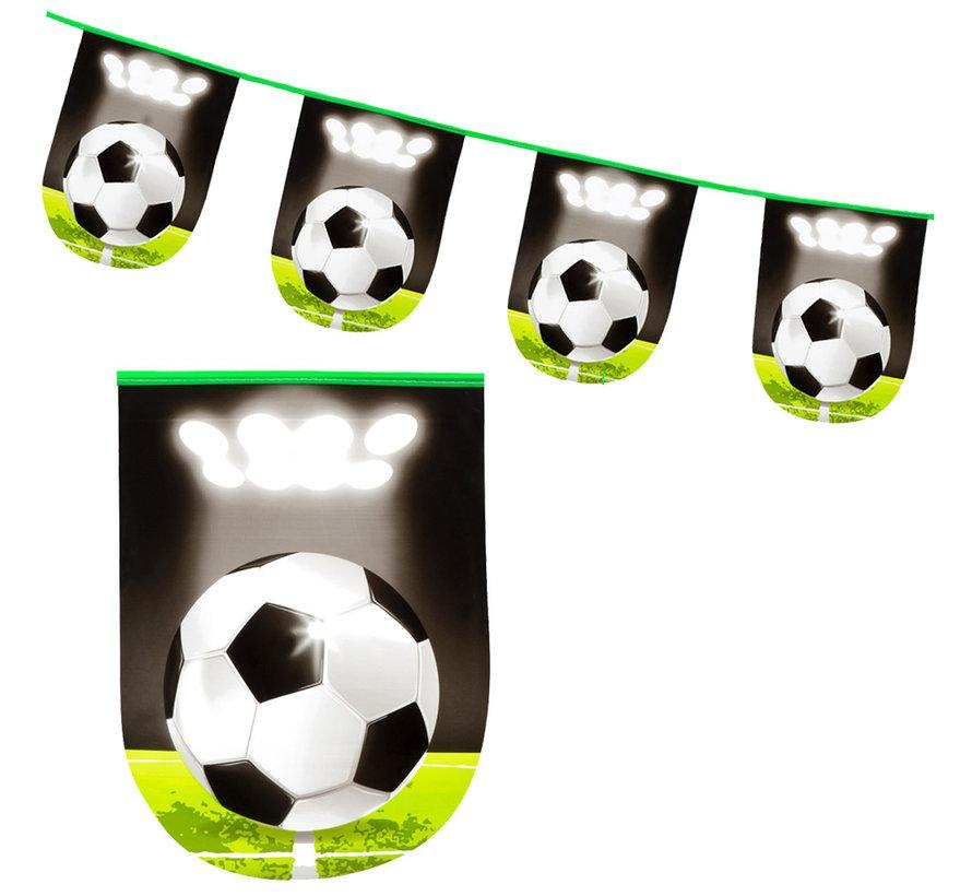 Plastic vlaggenlijn voetbal feestje