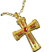 Sint kruis rode steen luxe