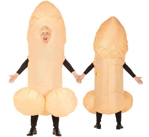 Lopend condoom kostuum