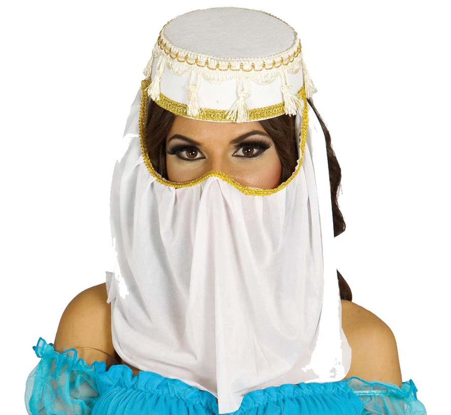 Arabische hoedje met sluier