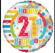 Folieballon 21 jaar