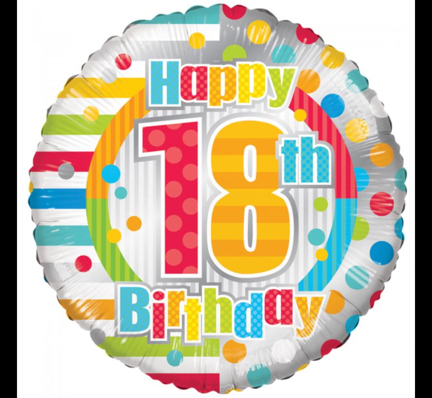 Folieballon 18 jaar happy birthday