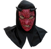 Hoofdmasker Evil Devil with hood