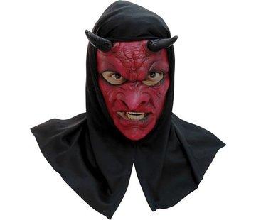 Hoofdmasker Evil Devil with hood