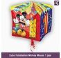 Cube Folieballon Mickey Mouse 1 jaar