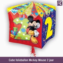 Cube folieballon Mickey Mouse 2 jaar