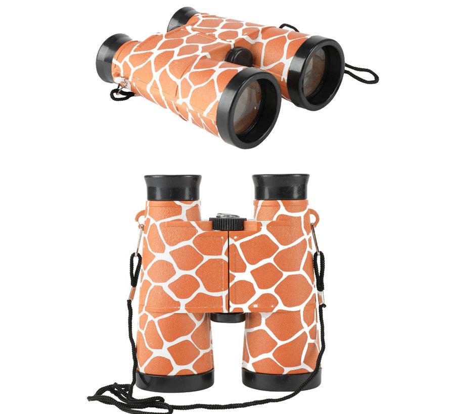 Kinder verrekijker kind  met giraf print