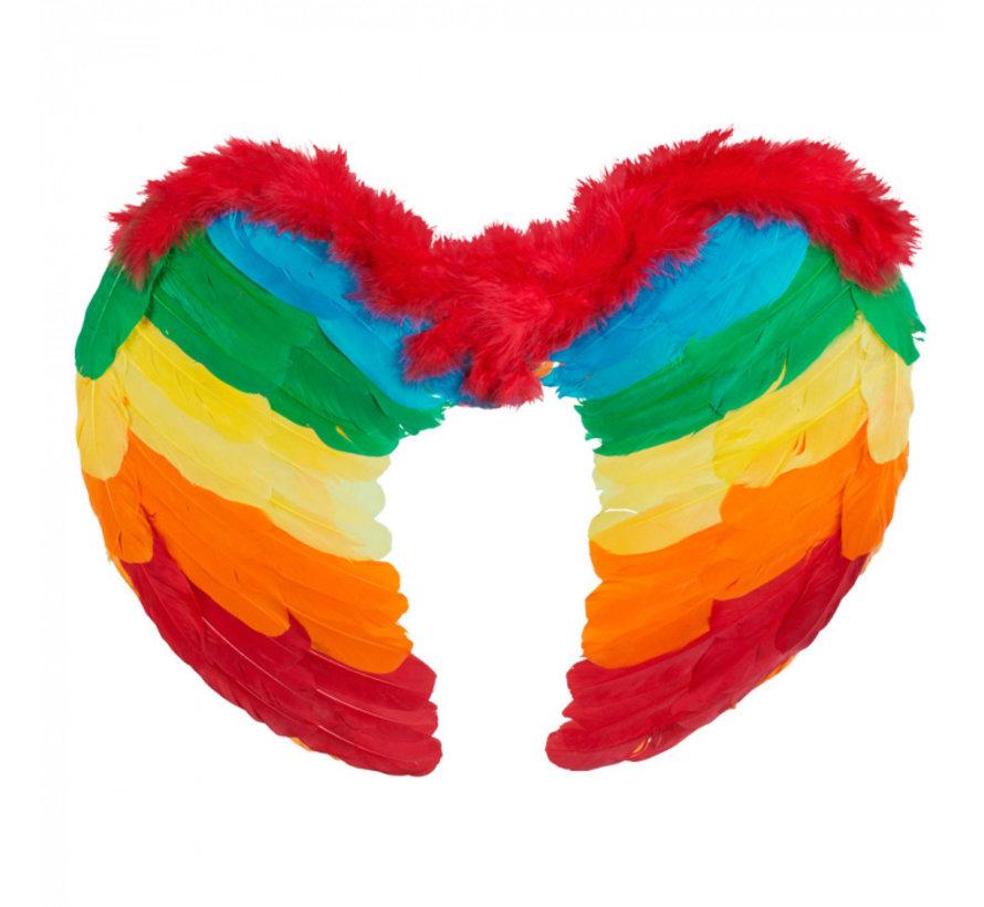 Kleine engel vleugels regenboog