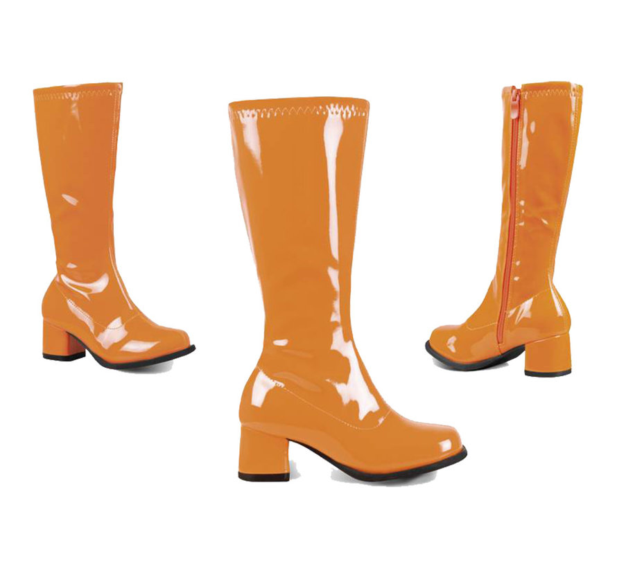 Neon oranje laarzen in kindermaten