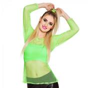 Neon visnet shirt groen