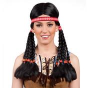 Indianen pruik Pocahontas
