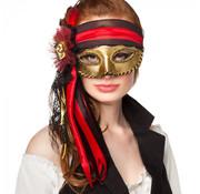 Dames Venetiaanse oogmasker piraat