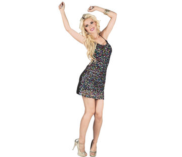 Glitter jurk disco