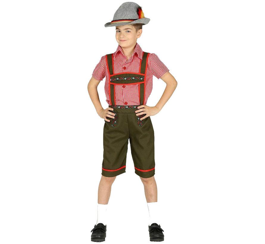 Jongens Tiroler kostuum kind
