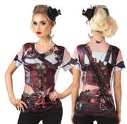 Dames 3D Steampunk shirt