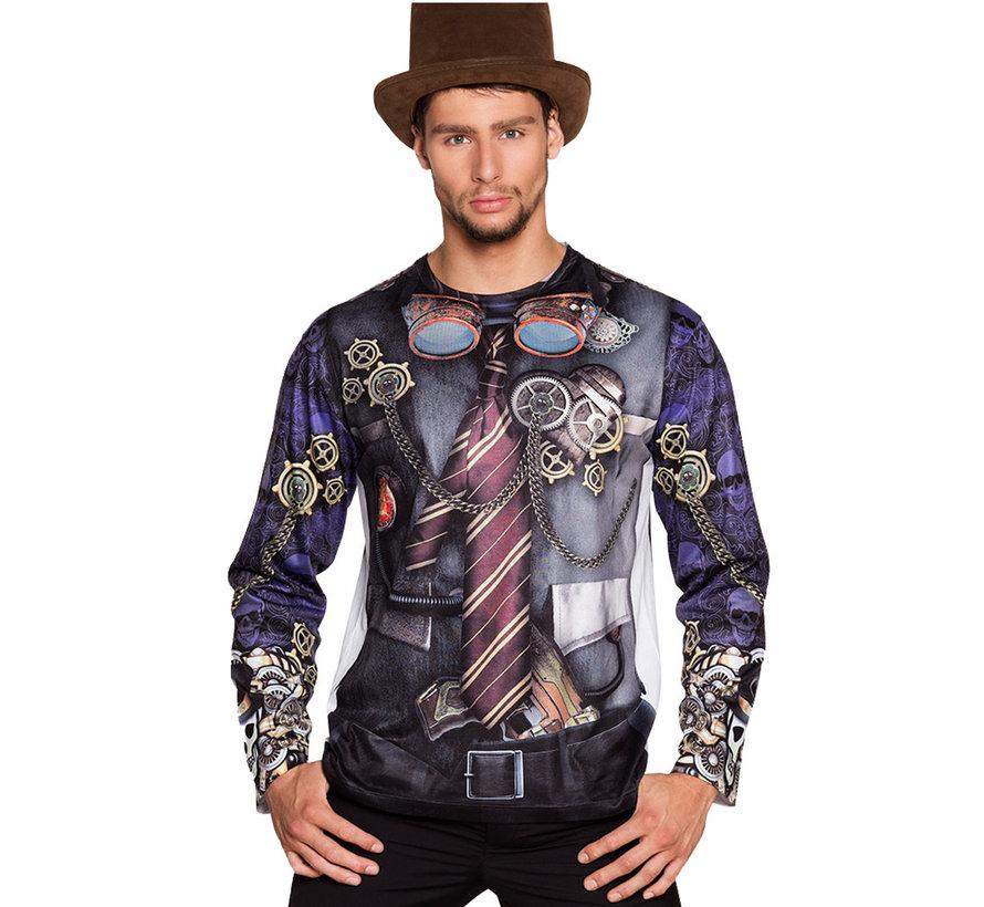 3D Steampunk shirt heren