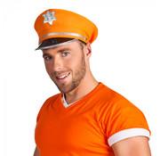 Politiepet oranje