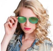 Zonnebril met groene glazen
