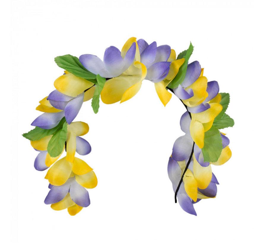 Paarse bloemen tiara haaraccessoires