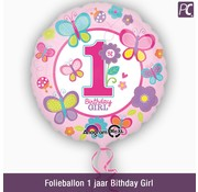 Folieballon 1 jaar Bithday Girl