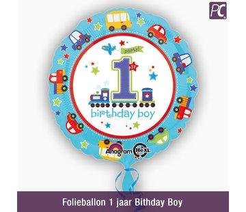 Folieballon 1 jaar Bithday Boy