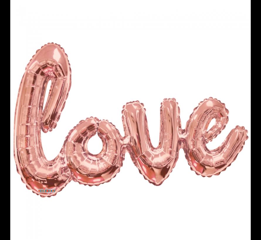 Folie Letter love ballon rose goud