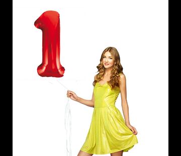 cijfer ballon 1