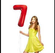 Rode cijfer ballon 7