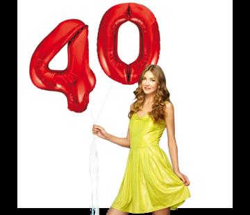 Rode cijfer ballonnen 40