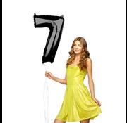 Zwarte cijfer 7 ballon