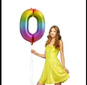 Regenboog  Cijfer Ballon 0