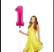 Roze cijfer ballon 1