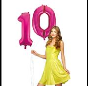 Folie Ballonnen cijfers 10