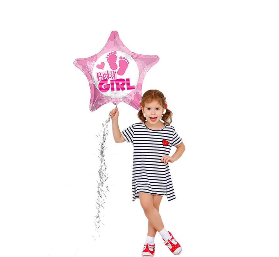 Geboorte ballon baby girl ster