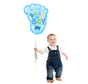 Baby boy  voetje ballon