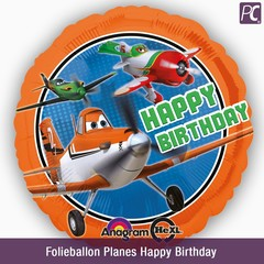 Folieballon Planes Happy Birthday
