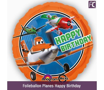 Folieballon Planes Happy Birthday