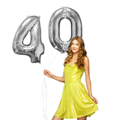 Helium ballonnen cijfers 40