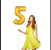Folie ballon cijfer 5 goud