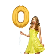 Cijfer 0 ballon goud