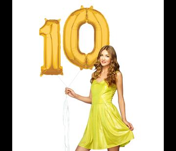 Ballonnen cijfers 10 goud